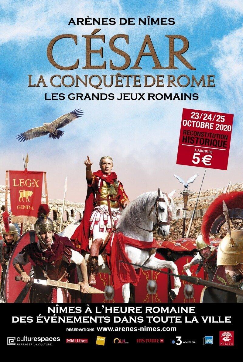 Affiche-Grands Jeux Romains-Nîmes -Octobre 2020