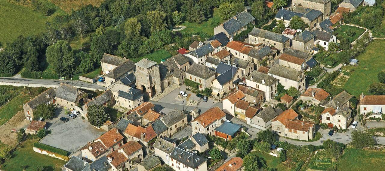 La Bastide l'Evêque vue du ciel Crédit photo : C.Bousquet
