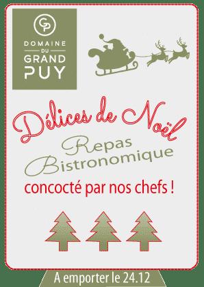 Repas réveillons Noel - domaine du Grand Puy